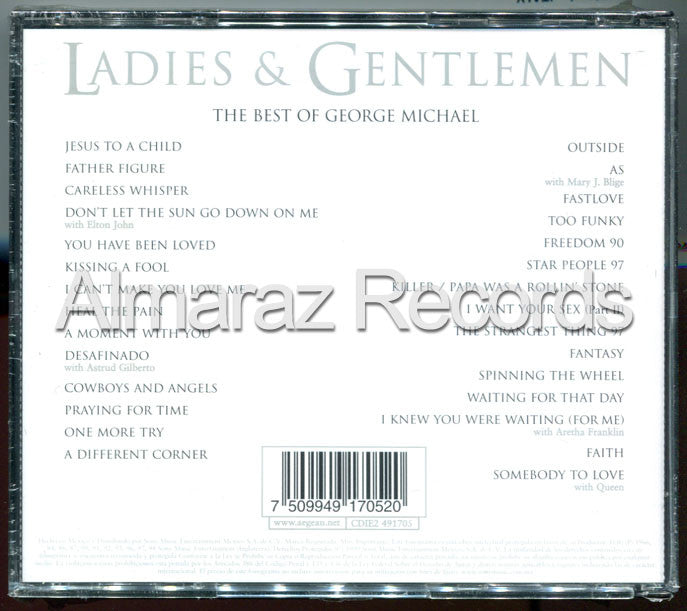 George Michael Ladies & Gentlemen CD - Almaraz Records | Tienda de Discos y Películas  - 2