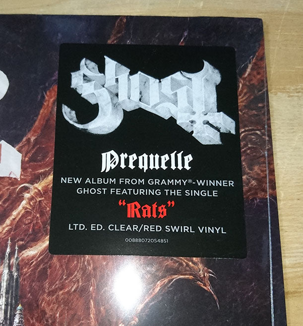 Ghost Prequelle Limited Clear Red Swirl Vinyl LP