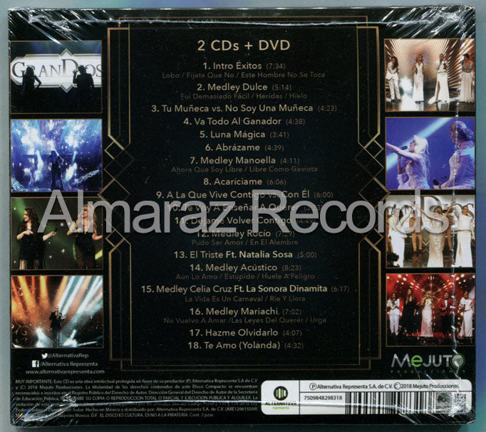 Grandiosas En Vivo Vol. 2 2CD+DVD