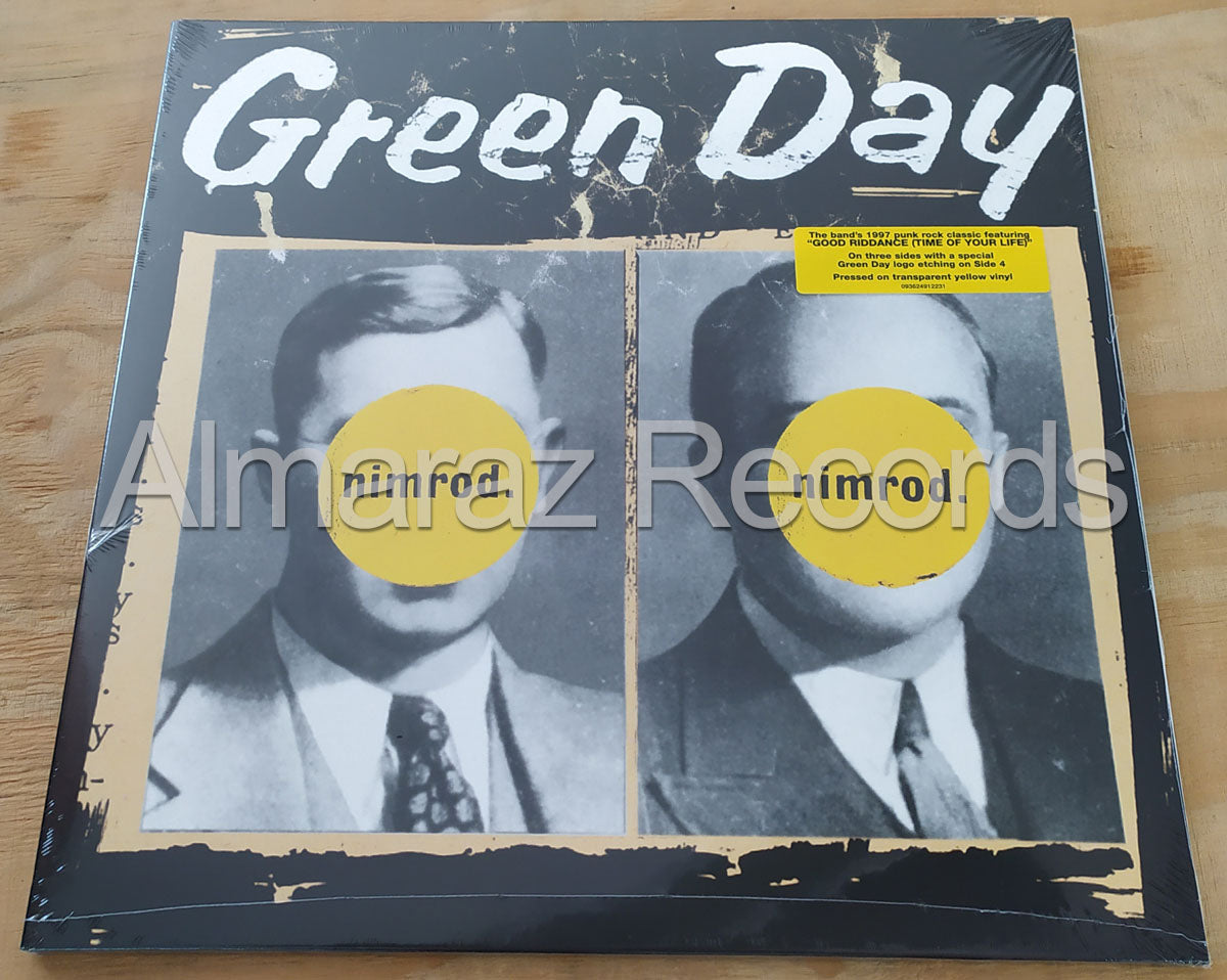 Green Day Nimrod Limited Transparent Yellow Vinyl LP