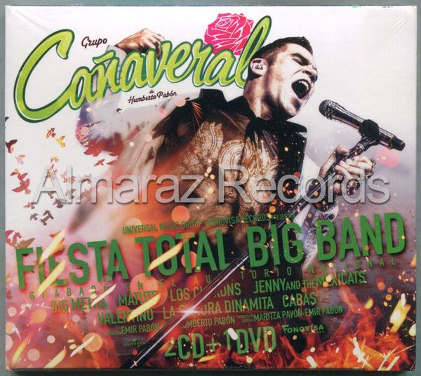 Grupo Cañaveral Fiesta Total Big Band En Vivo 2CD+DVD