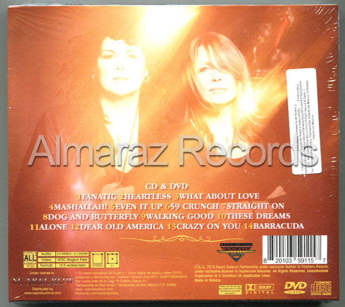 Heart Fanatic Live From Caesars Colosseum CD+DVD - Almaraz Records | Tienda de Discos y Películas  - 2