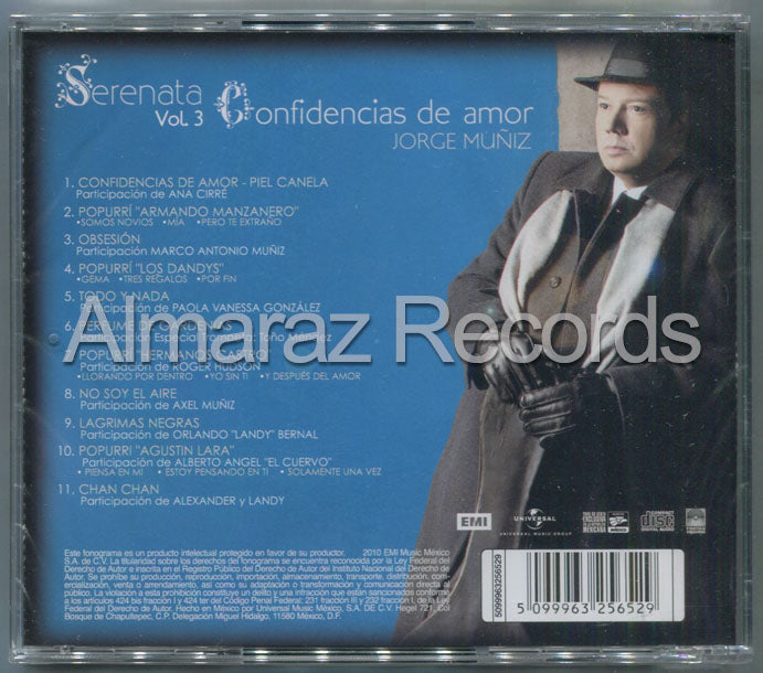 Jorge Muñiz Serenata Vol. 3 Confidencias de Amor CD