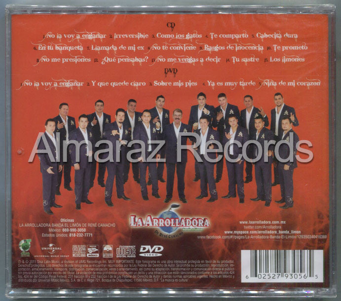 La Arrolladora Banda El Limon Deluxe Irreversible 2012 CD+DVD
