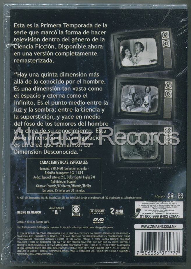 La Dimension Desconocida Temporada 1 4DVD