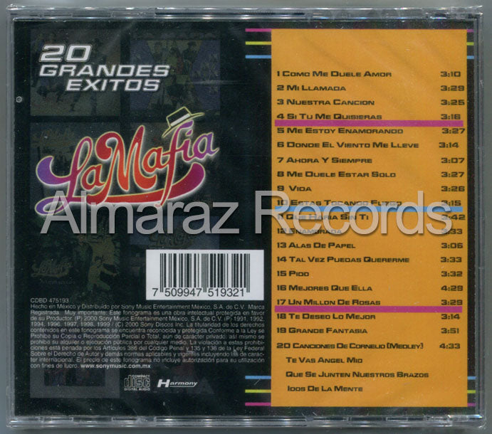 La Mafia 20 Grandes Exitos CD