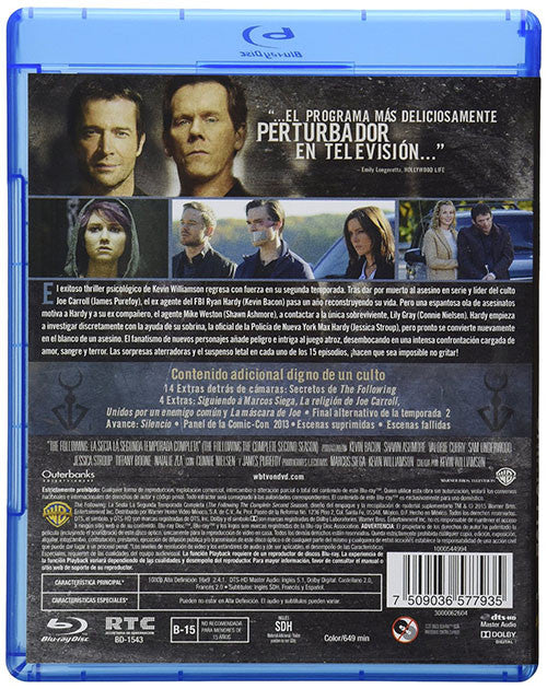 La Secta The Following Temporada 2 3Blu-Ray - Almaraz Records | Tienda de Discos y Películas  - 2