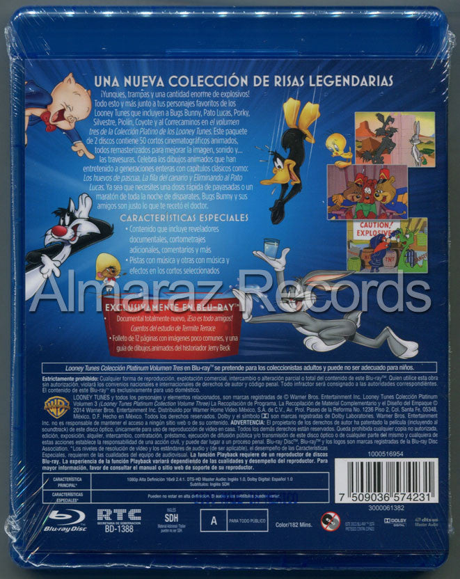 Looney Tunes Coleccion Platino Vol. 3 Blu-Ray - Looney Tunes Platinum Collection Vol. 3 - Almaraz Records | Tienda de Discos y Películas  - 2