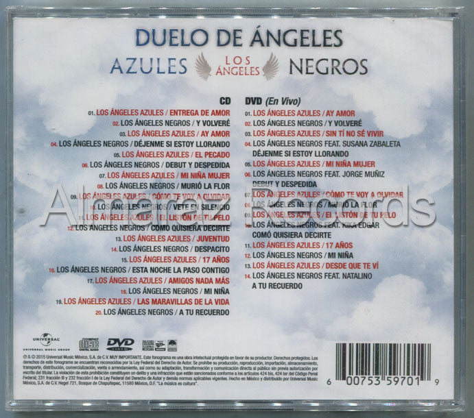 Los Angeles Azules / Los Angeles Negros Duelo De Angeles CD+DVD