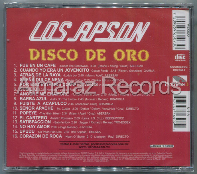 Los Apson Disco De Oro CD