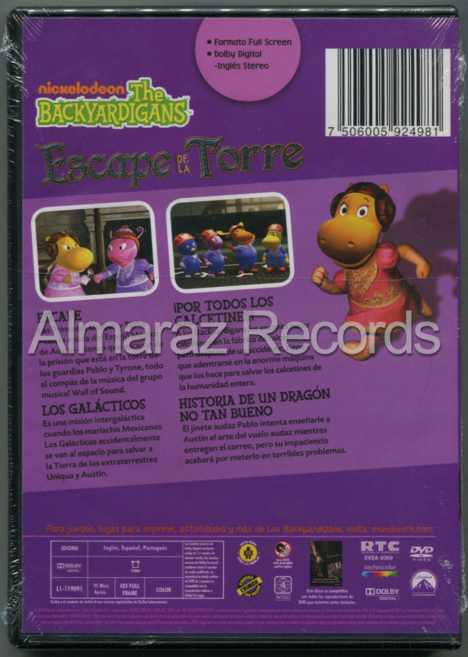 Backyardigans Escape De La Torre DVD - Escape From The Tower - Almaraz Records | Tienda de Discos y Películas  - 2