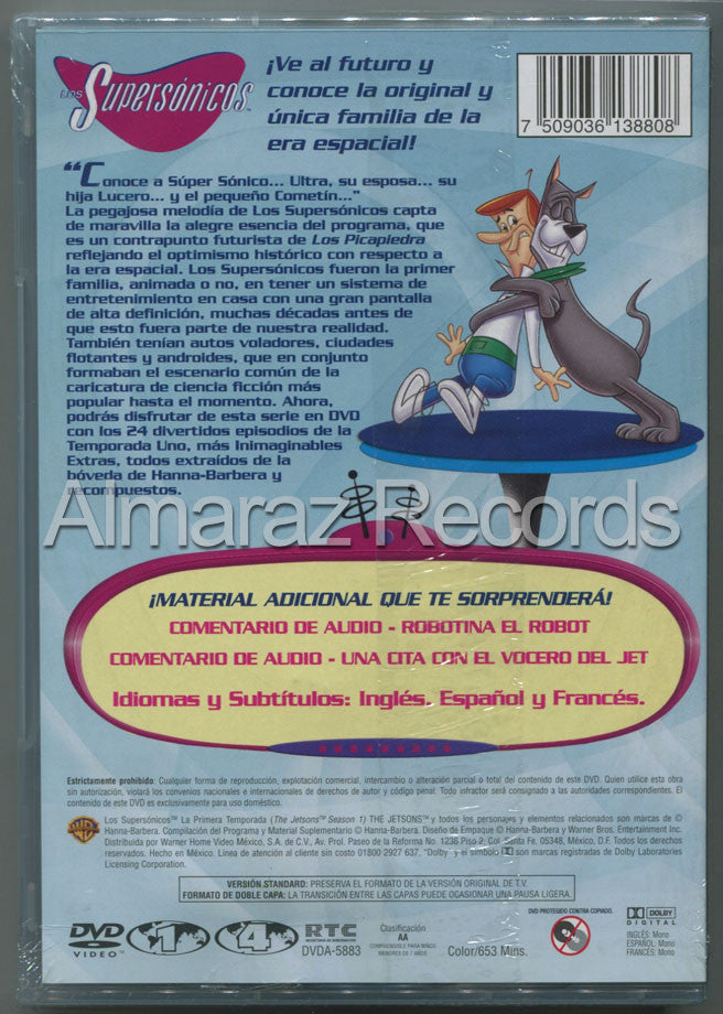 Los Supersonicos La Primera Temporada 4DVD - Jetsons The Complete First Season - Almaraz Records | Tienda de Discos y Películas  - 2