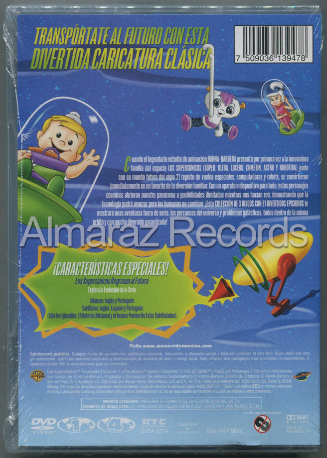 Los Supersonicos Temporada 2 Vol. 1 DVD