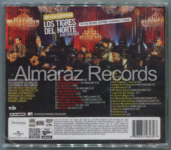 Los Tigres Del Norte MTV Unplugged Los Tigres Del Norte CD+DVD