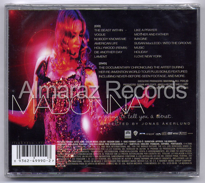 Madonna I'm Going To Tell You A Secret CD+DVD - Almaraz Records | Tienda de Discos y Películas  - 2