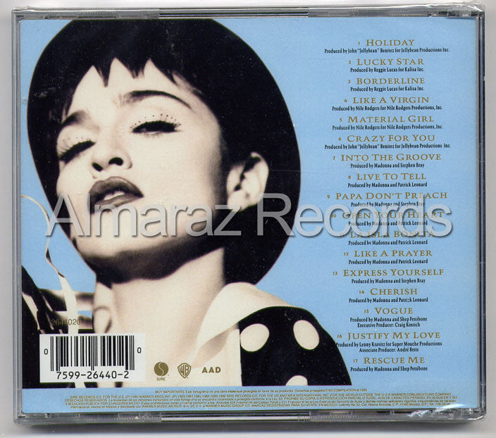 Madonna The Immaculate Collection CD - Almaraz Records | Tienda de Discos y Películas  - 2