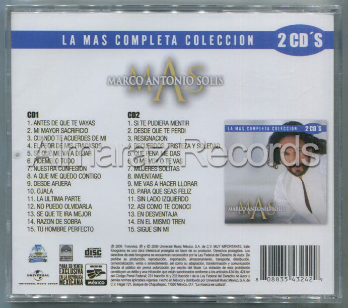 Marco Antonio Solis La Mas Completa Coleccion 2CD