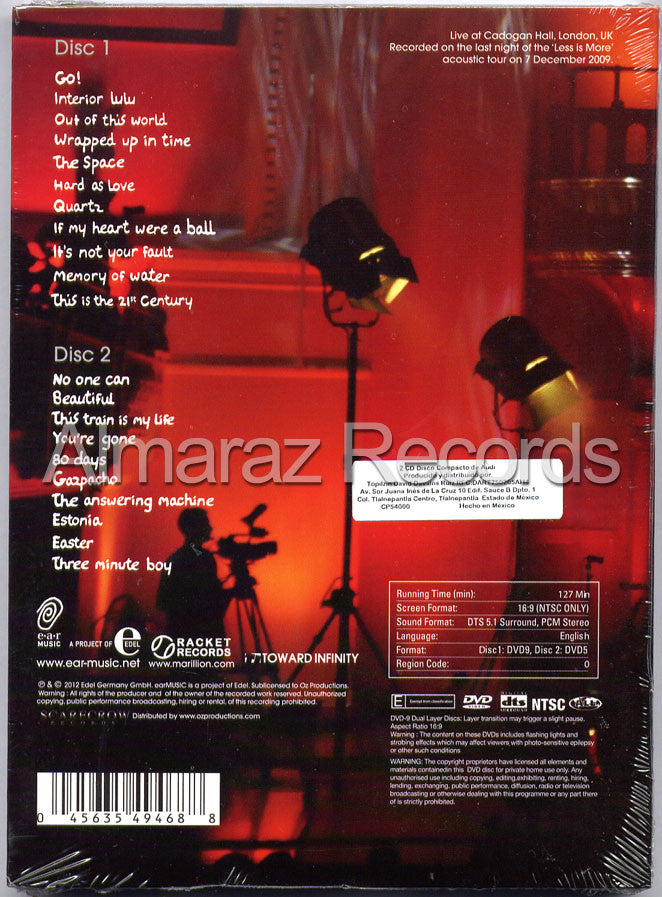Marillion Live From Cadogan Hall 2DVD - Almaraz Records | Tienda de Discos y Películas  - 2