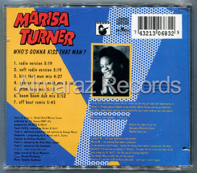 Marisa Turner Who's Gonna Kiss That Man CD (Usado)