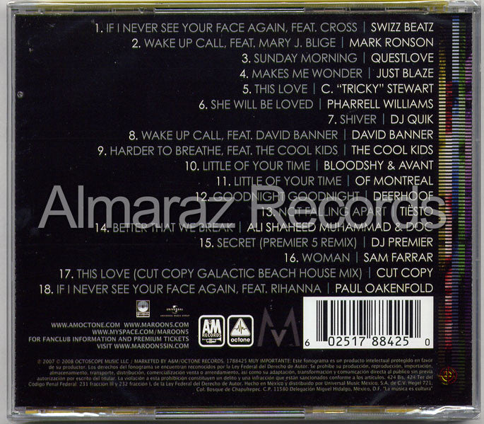 Maroon 5 Call And Response The Remix Album CD - Maroon 5 - Almaraz Records | Tienda de Discos y Películas  - 2