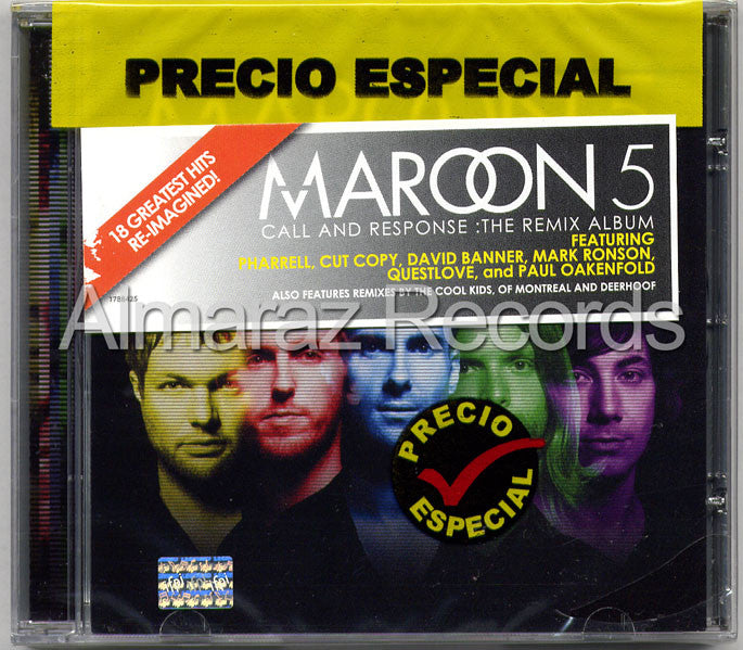 Maroon 5 Call And Response The Remix Album CD - Maroon 5 - Almaraz Records | Tienda de Discos y Películas  - 1
