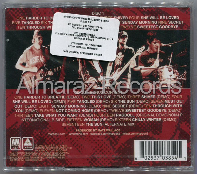 Maroon 5 Songs About Jane 10th Anniversary Edition 2CD