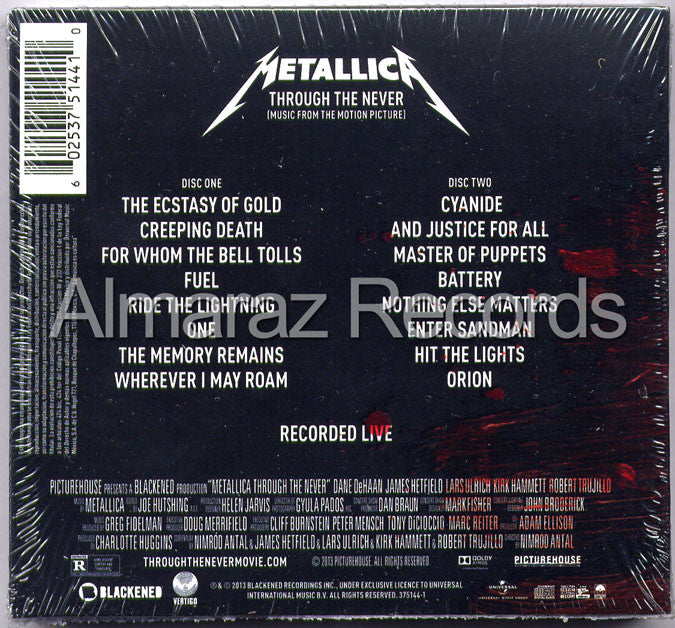 Metallica Through The Never Deluxe 2CD - Almaraz Records | Tienda de Discos y Películas  - 2