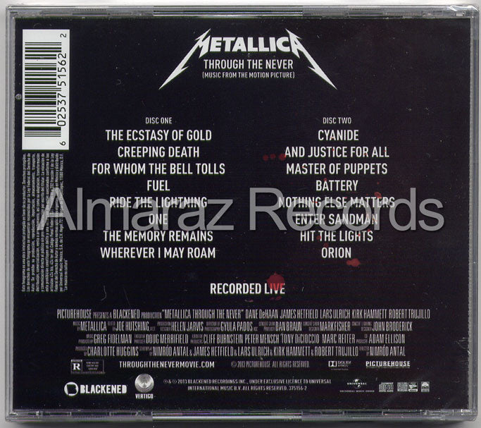 Metallica Through The Never 2CD - Almaraz Records | Tienda de Discos y Películas  - 2