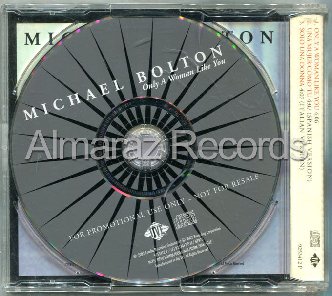 Michael Bolton Only A Woman Like You CD (Usado) - Almaraz Records | Tienda de Discos y Películas  - 2