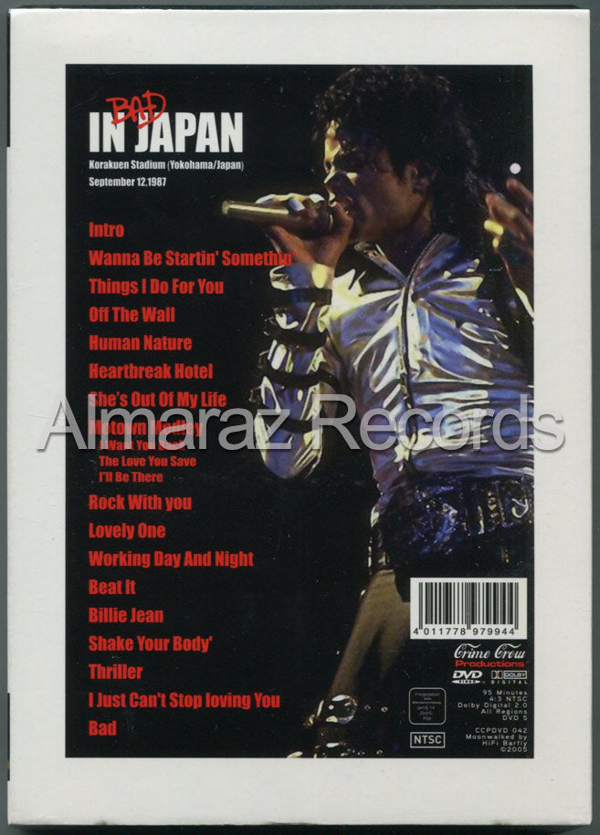 Michael Jackson Bad In Japan Live 1987 DVD