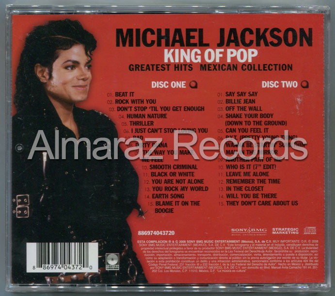 Michael Jackson King Of Pop Greatest Hits Mexican Collection 2CD - Almaraz Records | Tienda de Discos y Películas  - 2