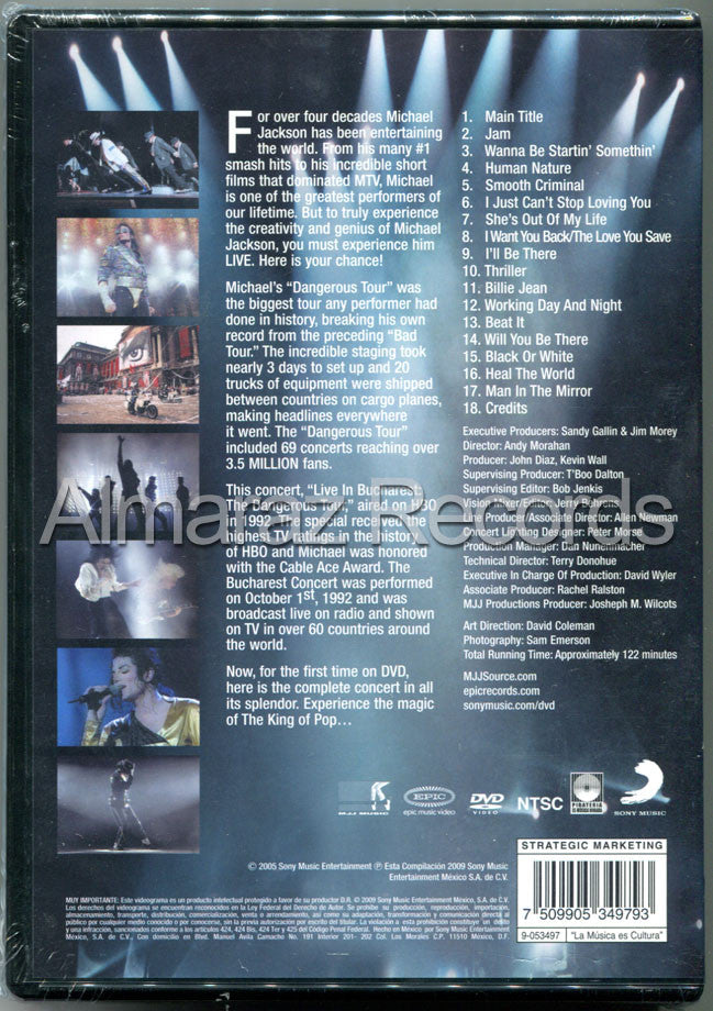 Michael Jackson Live In Bucharest Dangerous Tour DVD - Almaraz Records | Tienda de Discos y Películas  - 2