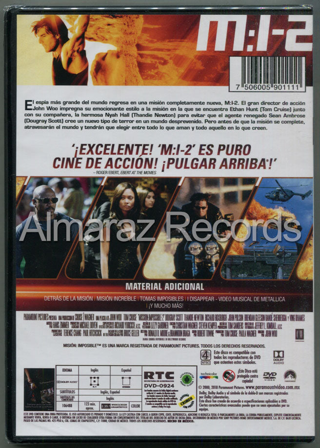 Mision Imposible 2 DVD