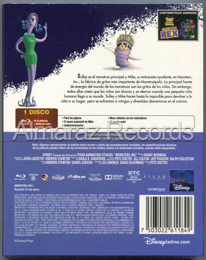 Monsters Inc. Blu-Ray