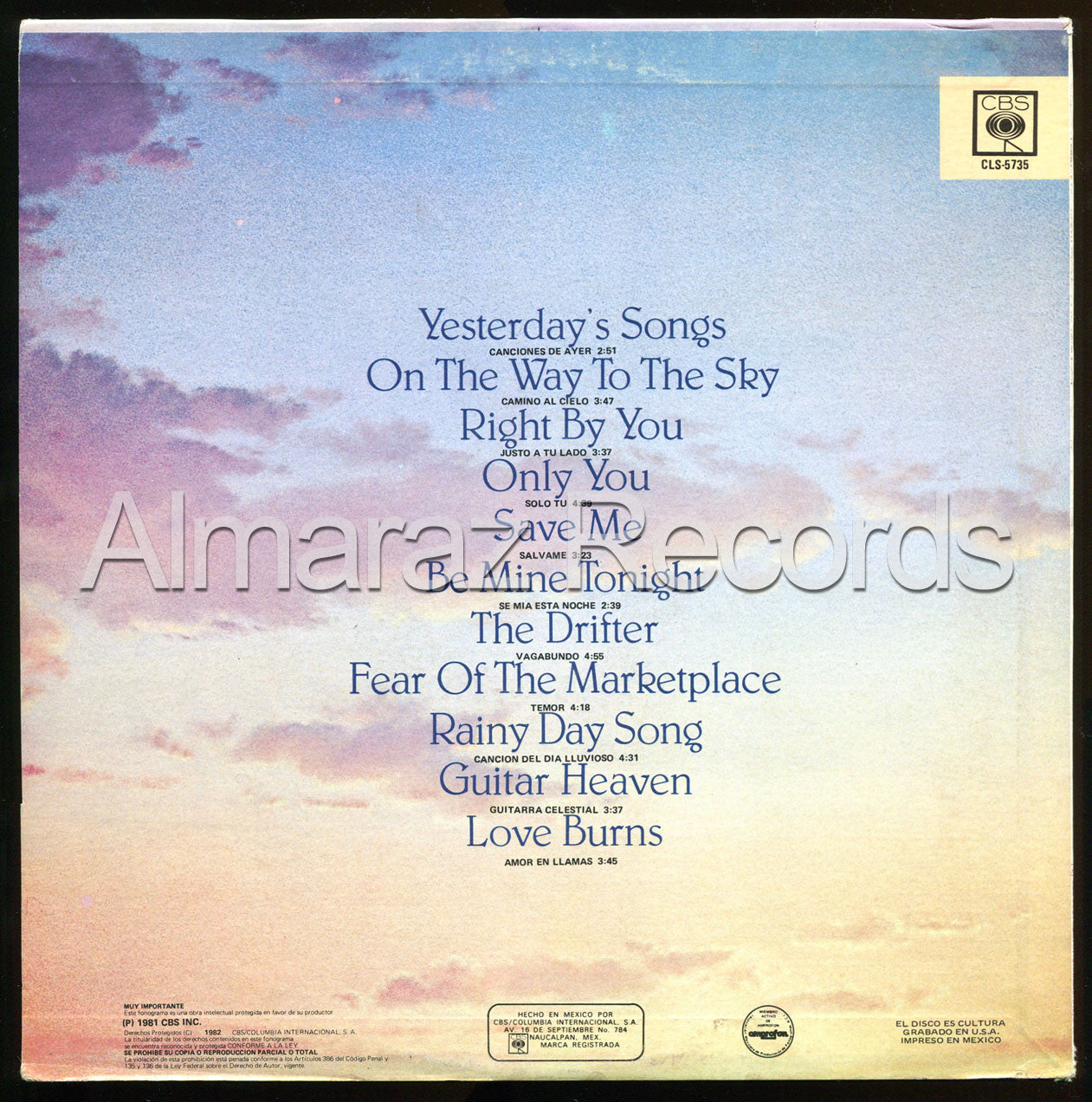 Neil Diamond On The Way To The Sky Edicion Vinilo LP - Almaraz Records | Tienda de Discos y Películas  - 2