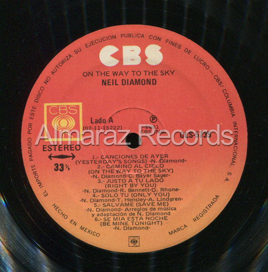 Neil Diamond On The Way To The Sky Edicion Vinilo LP - Almaraz Records | Tienda de Discos y Películas  - 3