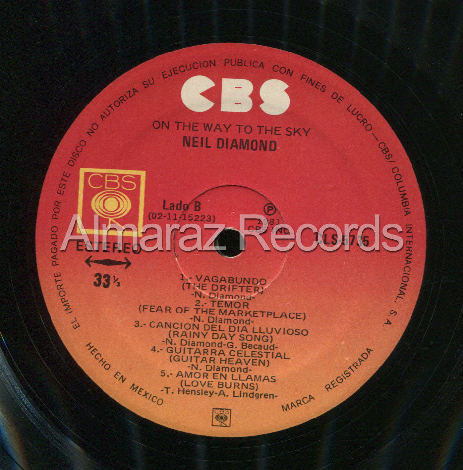 Neil Diamond On The Way To The Sky Edicion Vinilo LP - Almaraz Records | Tienda de Discos y Películas  - 4