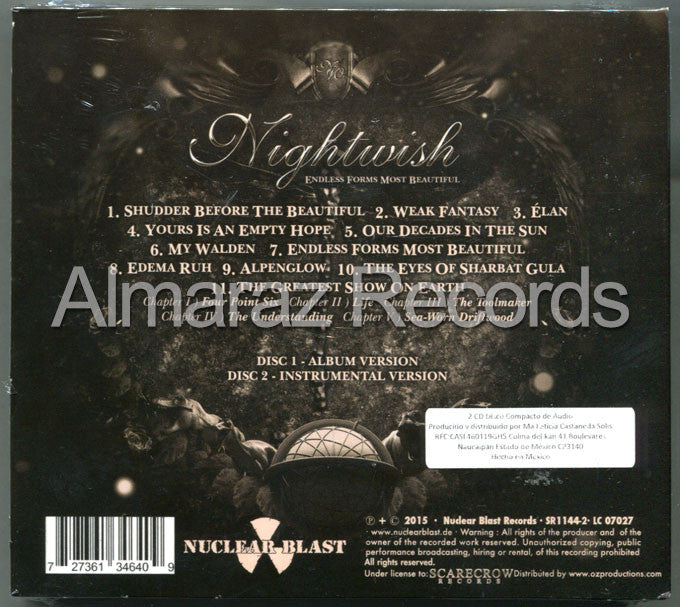 Nightwish Endless Forms Most Beautiful 2CD - Almaraz Records | Tienda de Discos y Películas  - 2