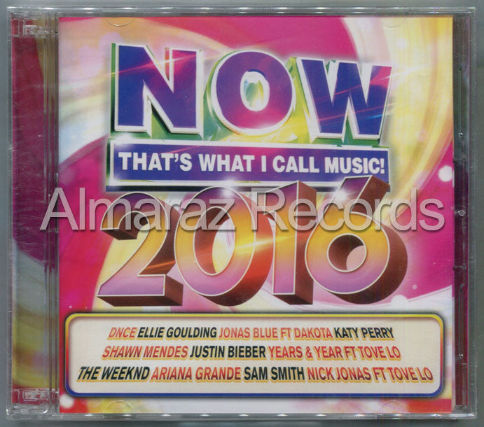 NOW That's What I Call Music 2016 CD+DVD