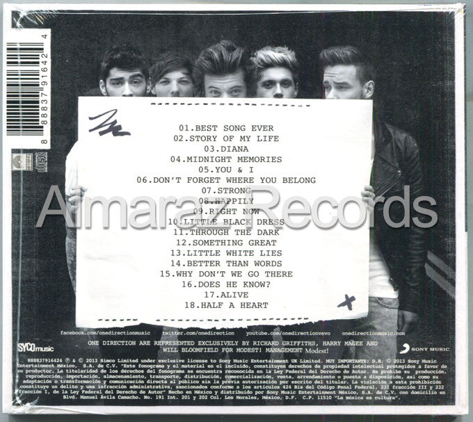 One Direction Midnight Memories Ultimate Edition CD - Almaraz Records | Tienda de Discos y Películas  - 2