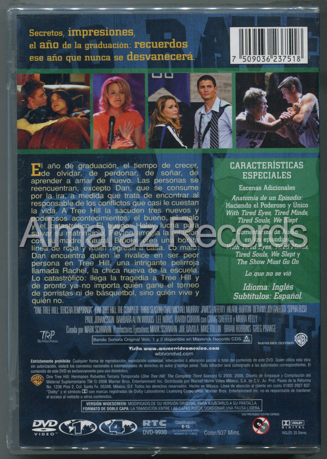 Hermanos Rebeldes Temporada 3 DVD - One Tree Hill - Almaraz Records | Tienda de Discos y Películas  - 2