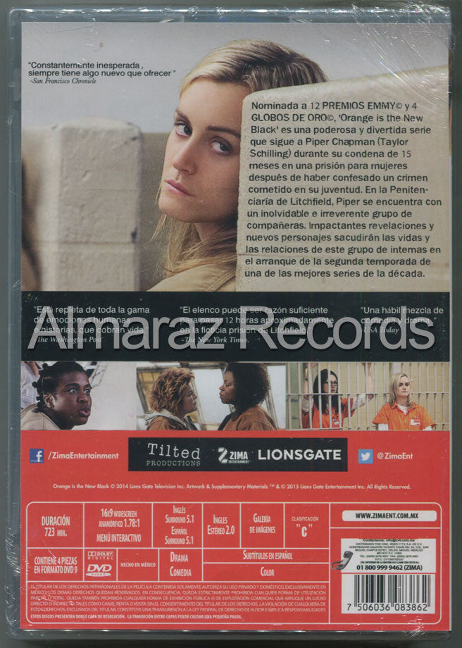 Orange Is The New Black Temporada 2 DVD - Almaraz Records | Tienda de Discos y Películas  - 2
