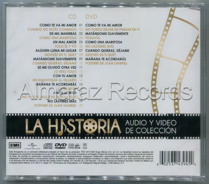 Pandora La Historia Audio Y Video CD+DVD