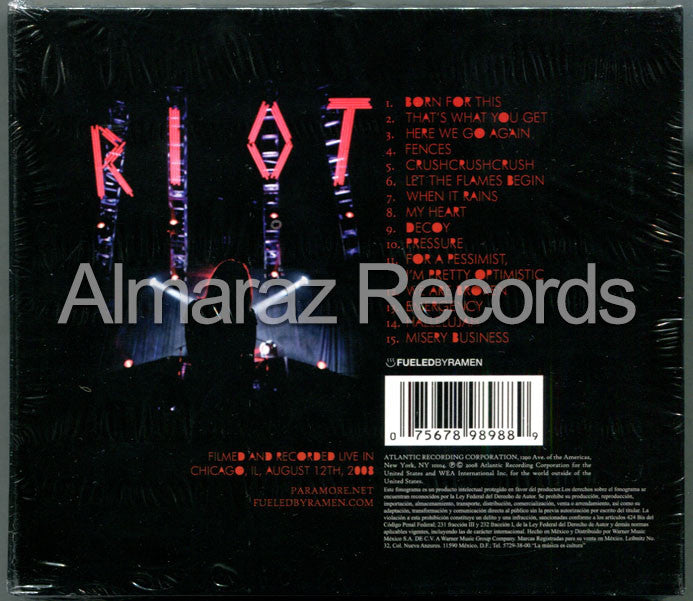 Paramore The Final Riot CD+DVD - Almaraz Records | Tienda de Discos y Películas  - 2