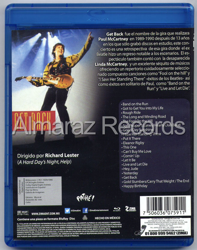 Paul McCartney Get Back Blu-Ray - Almaraz Records | Tienda de Discos y Películas  - 2