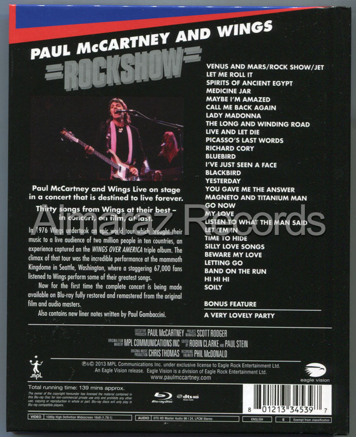 Paul McCartney Rockshow Blu-Ray [Import] - Almaraz Records | Tienda de Discos y Películas  - 2
