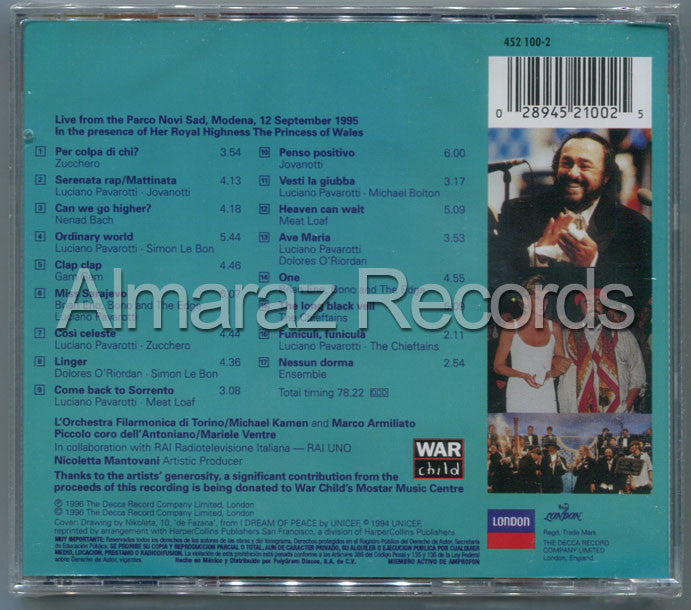 Luciano Pavarotti & Friends Children Of Bosnia CD - Almaraz Records | Tienda de Discos y Películas  - 2