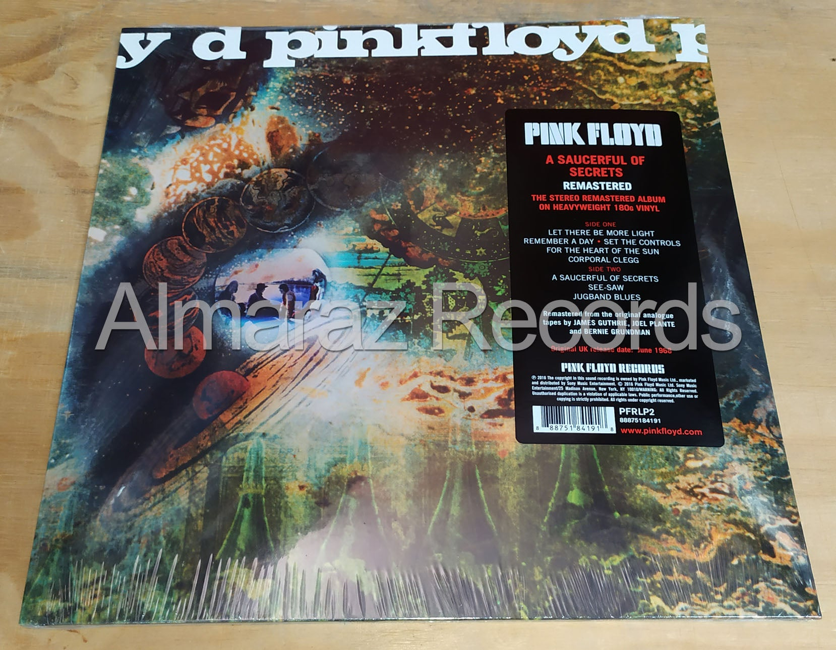 Pink Floyd A Saucerful Of Secrets Remastered Vinyl LP