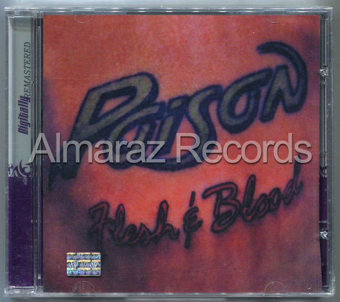 Poison Flesh & Blood CD - Almaraz Records | Tienda de Discos y Películas  - 1