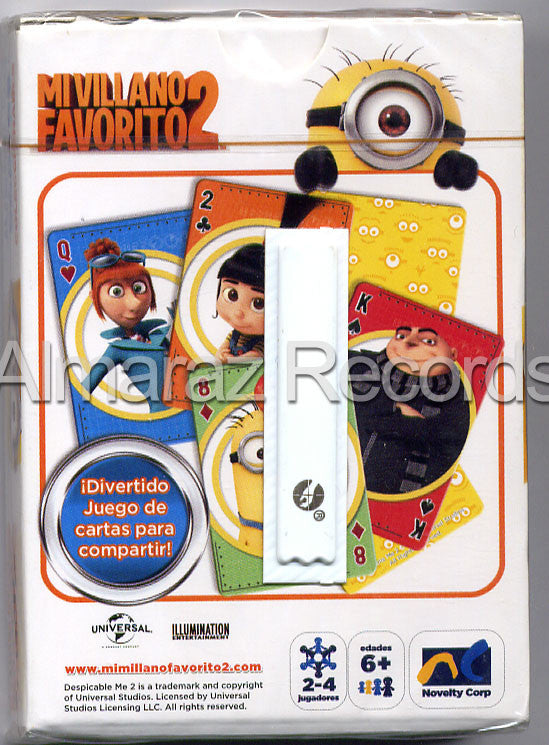 Despicable Me 2 54 Poker Cards Deck - Mi Villano Favorito 2 - Almaraz Records | Tienda de Discos y Películas  - 2